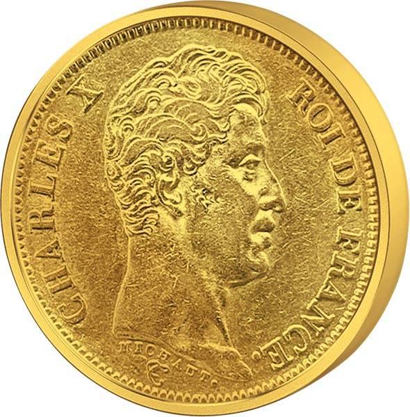 40 Francs Frankreich Charles X JuW