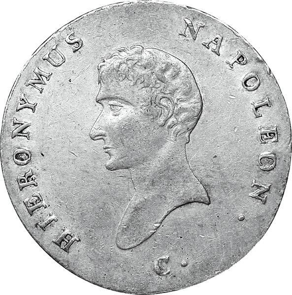 2/3 Taler Westphalen König Hieronymus Napoleon