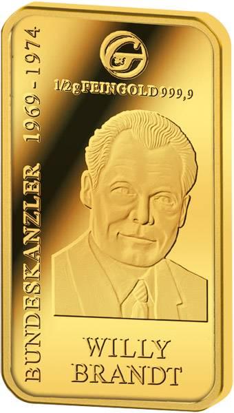 Goldbarren Willy Brandt