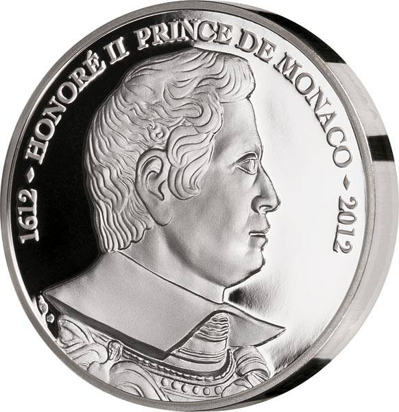 10 Euro Monaco 400 Jahre Fürstentitel Honoré II. 2012