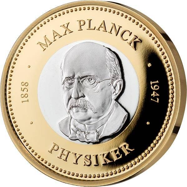 Gedenkprägung Max Planck