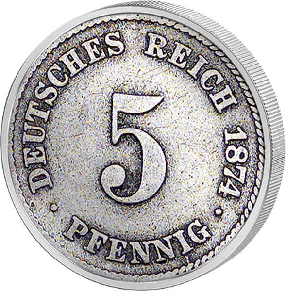 5 Pfennig Deutsches Kaiserreich kleiner Adler 1874-1889 s-ss