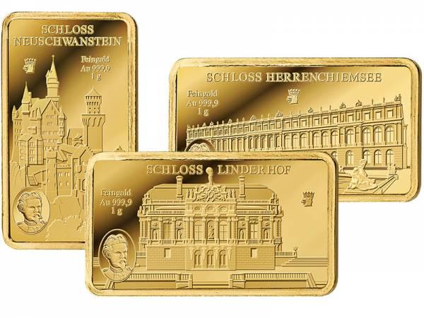 Goldbarren-Satz König Ludwig II. von Bayern und seine Schlösser 2018
