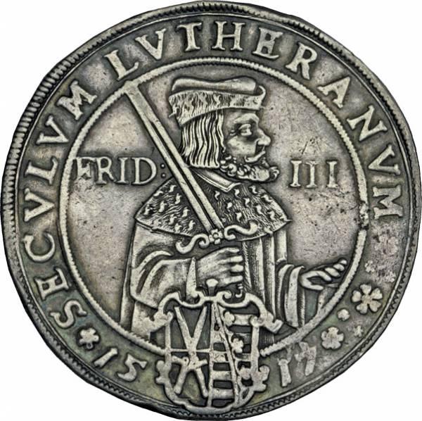 Taler Sachsen Kurfürst Johann Georg I. Jahrhundertfeier der Reformation 1617