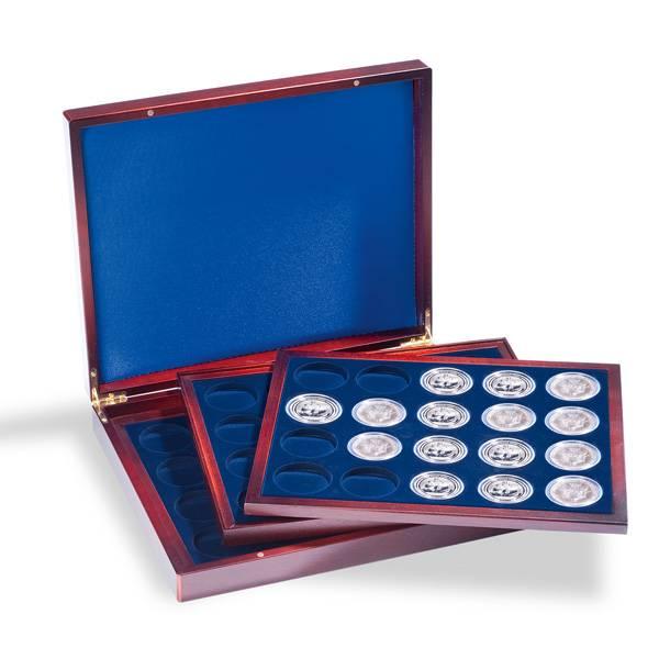 Exklusive Münzkassette für 60 Anlagemünzen