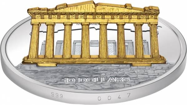 Weltmonumente auf Münzen - Akropolis-Parthenon-Tempel 2007
