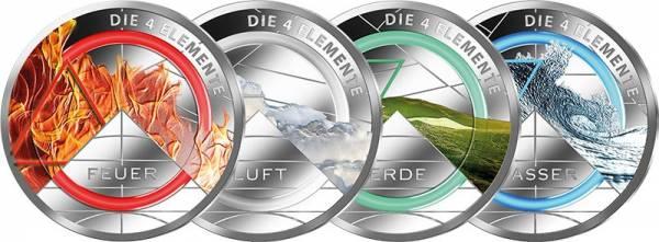 4 Gedenkprägungen Die vier Elemente