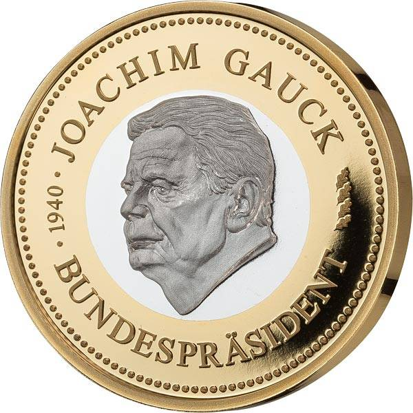 Gedenkprägung Joachim Gauck