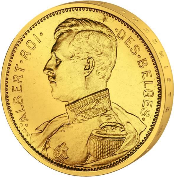 20 Francs Belgien König Albert I. in Uniform 1914