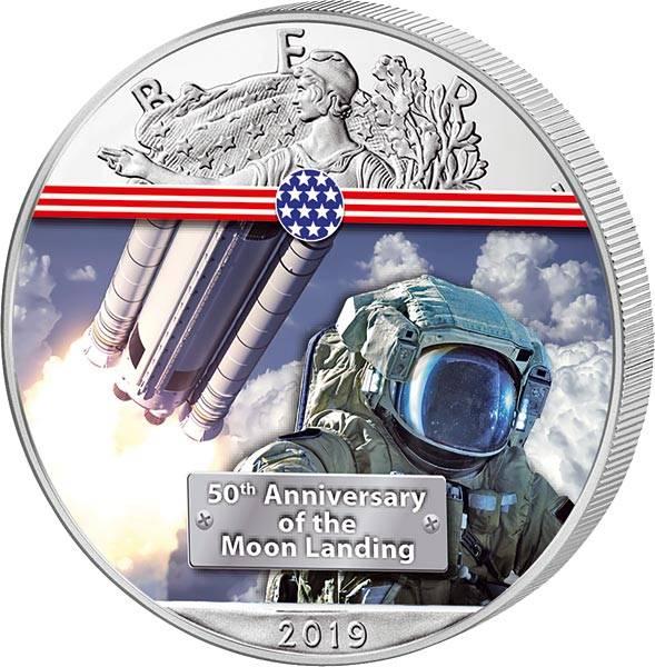 1 Dollar USA 50 Jahre Mondlandung Nächster Schritt zum Mond  2019