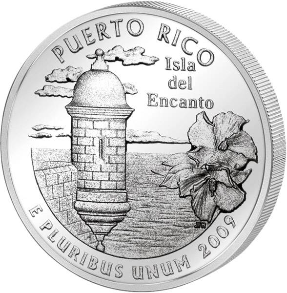Quarter Dollar USA Puerto Rico 2009