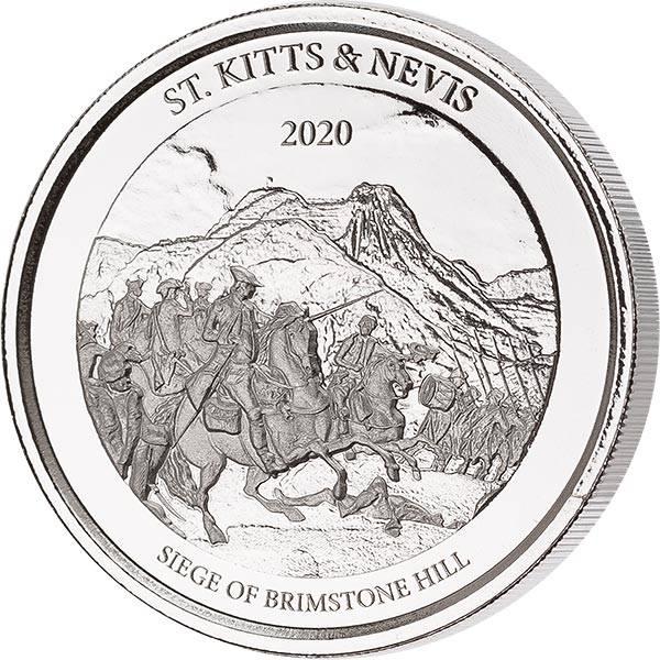 1 Unze Silber St. Kitts & Nevis Siege of Brimstone Hill 2020