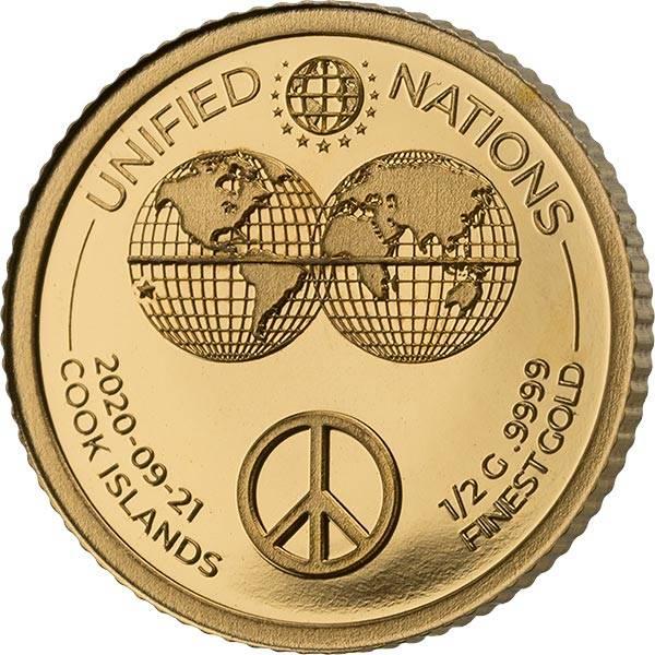 5 Dollars Cook-Inseln Peace-Zeichen 2020