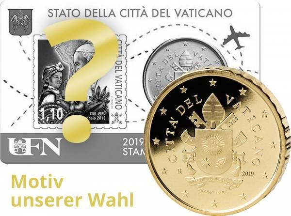 50 Cent Vatikan Stamp und Coincard Papst Franziskus 2019 MuW