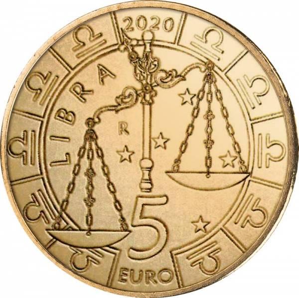 5 Euro San Marino Tierkreiszeichen Waage 2020