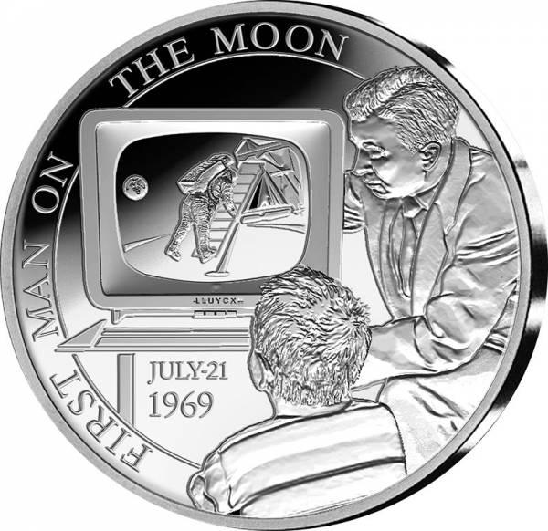 5 Euro Belgien 50 Jahre erste bemannte Mondlandung 2019