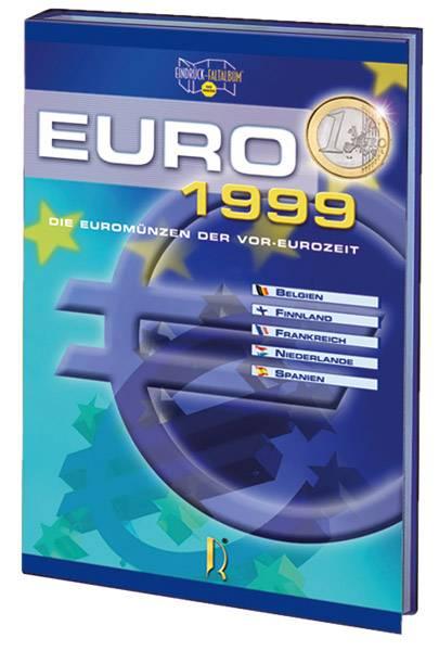 Euro-Faltalbum mit den Kursmünzen 1999-2001 gefüllt