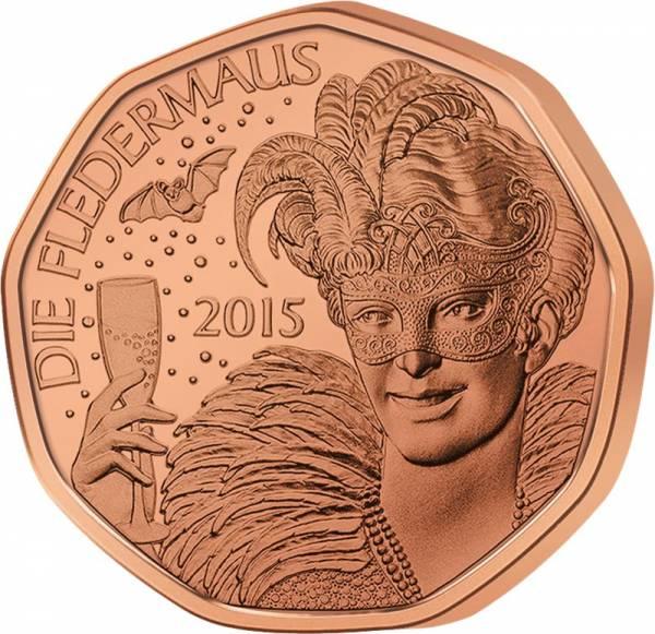 5 Euro Österreich Neujahrsmünze Die Fledermaus 2015