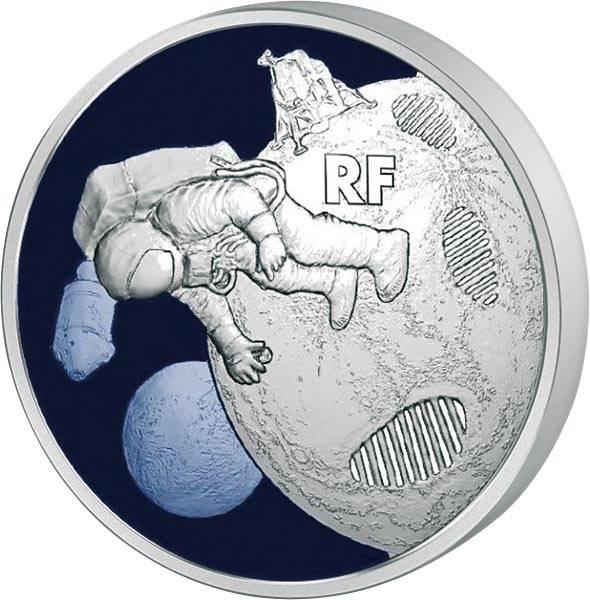 10 Euro Frankreich 50 Jahre erste Schritte auf dem Mond 2019