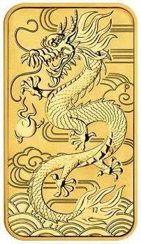 1 Unze Gold Australien Chinesischer Drache 2018