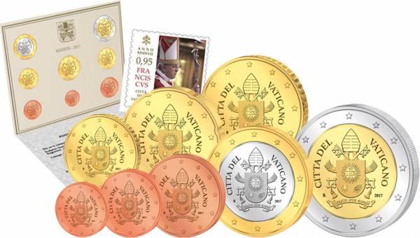 Euro-Kursmünzensatz Vatikan 2017 Ersttags-Edition - FOTOMUSTER