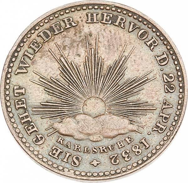 Gedenkkreuzer Baden Großherzog Leopold 1832