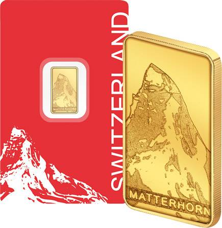 1 Gramm Goldbarren Schweizer Matterhorn