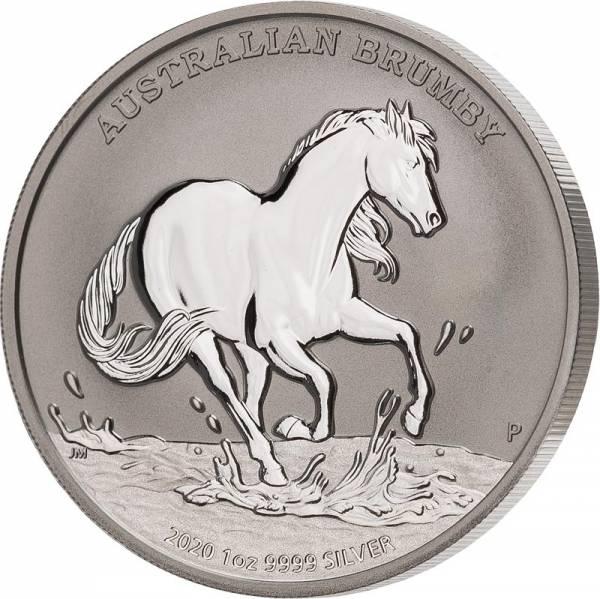 1 Unze Silber Australien Brumby 2020