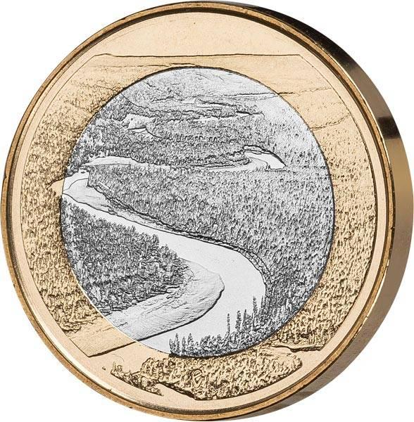 5 Euro Finnland Fluss Oulankajoki 2018