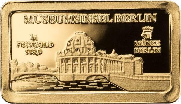 Goldbarren Deutsche Wahrzeichen Museumsinsel Berlin