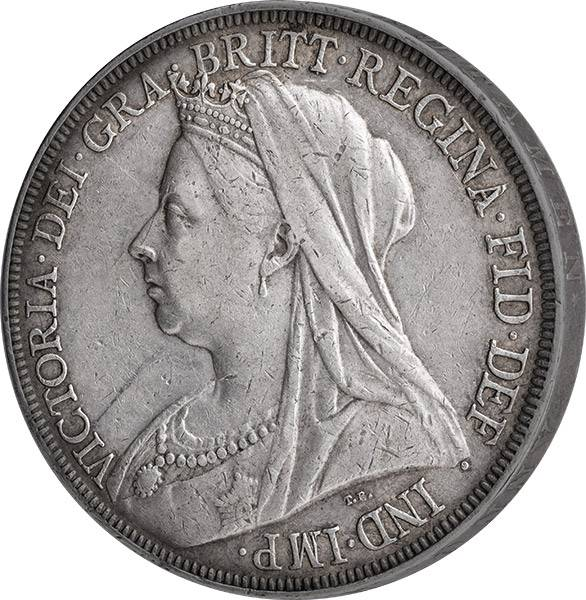 1 Crown Großbritannien Queen Victoria 1893-1900