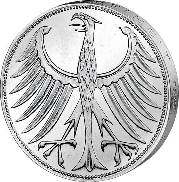 5 DM BRD Silberadler 1951