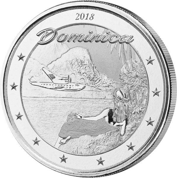 1 Unze Silber Dominica Insel der Natur 2018