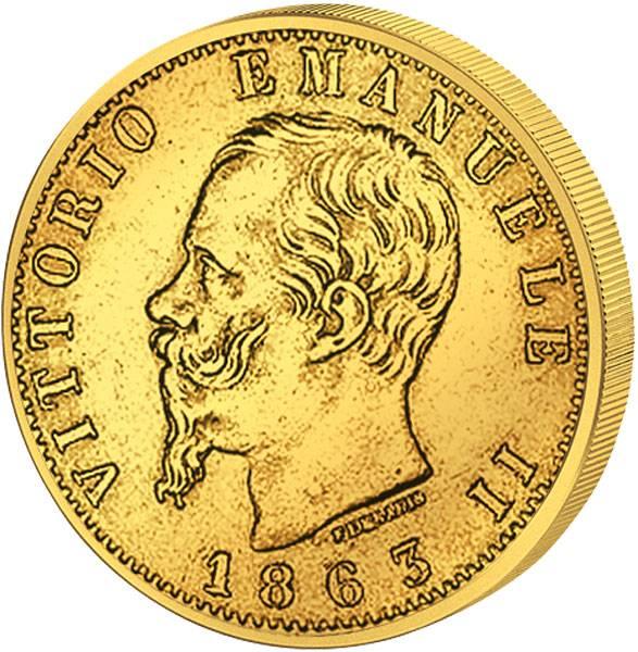 20 Lire 20 Lire Italien Victor Emanuel II. 1861-1874 ss-vz