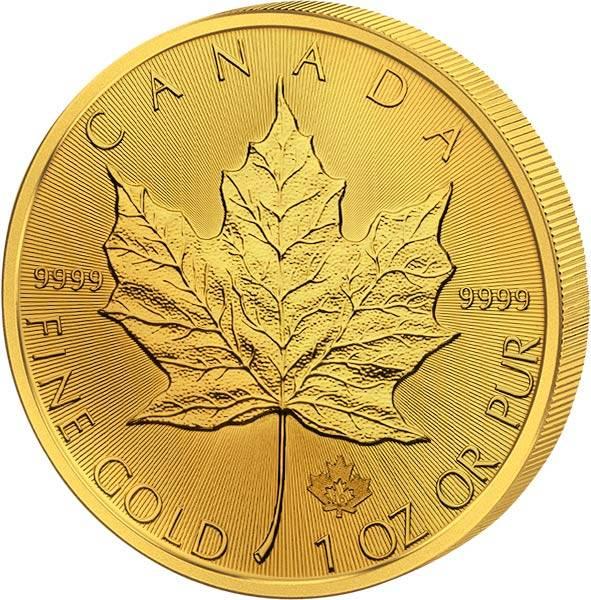 1 Unze Gold Kanada Maple Leaf 2018