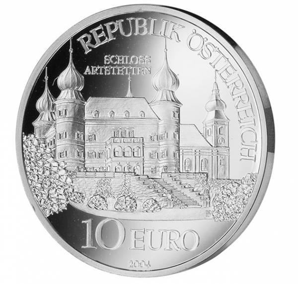 10 Euro Österreich Schloss Artstetten 2004