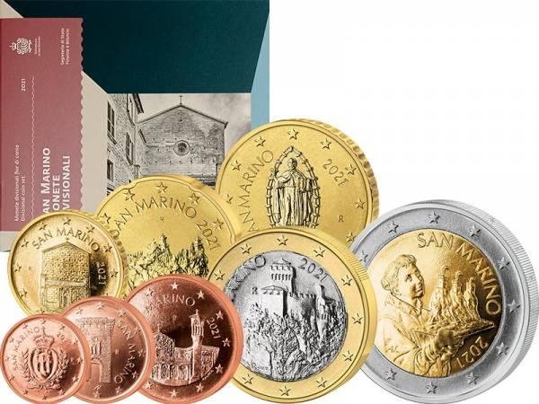 Euro-Kursmünzensatz San Marino 2021