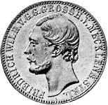Taler Vereinstaler Friedrich Wilhelm 1870 Vorzüglich