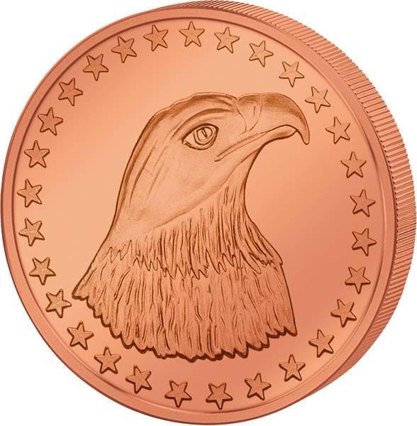 1 Unze Kupfer Gedenkprägung Eagle Head