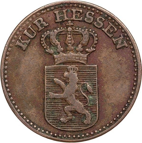 1/2 Kreuzer Hessen-Kassel Kurfürst Wilhelm II. 1824 - 1834