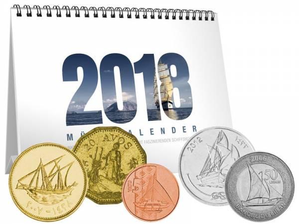 Münz-Kalender Schiffe 2018