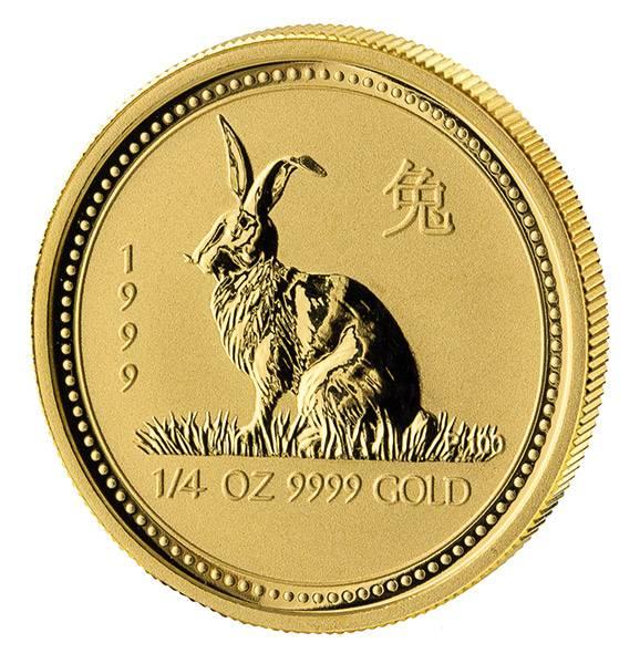1/4 Unze Gold Australien Jahr des Hasen 1999