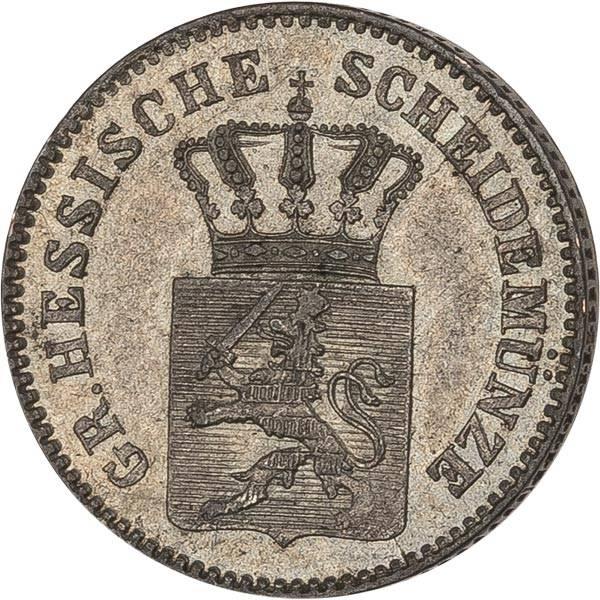 3 Kreuzer Hessen-Darmstadt Großherzog Ludwig III. 1864-1867