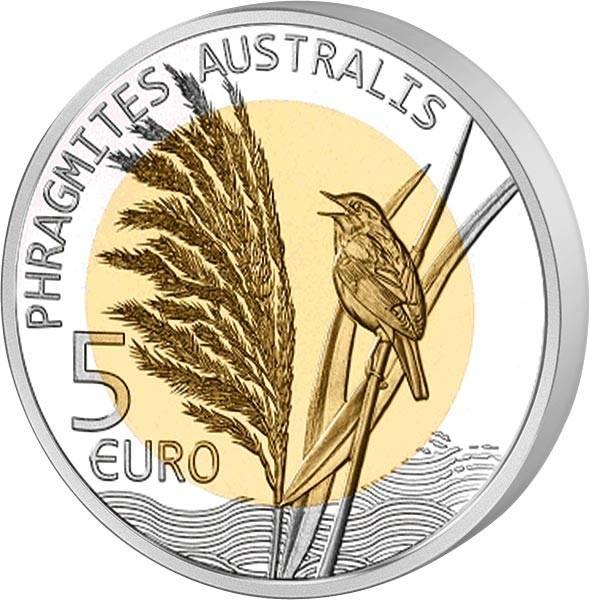 5 Euro Luxemburg Flora und Fauna Schilf 2018