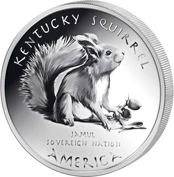 1 Dollar USA Native State Dollar Shawnee Eichhörnchen Kentucky 2020
