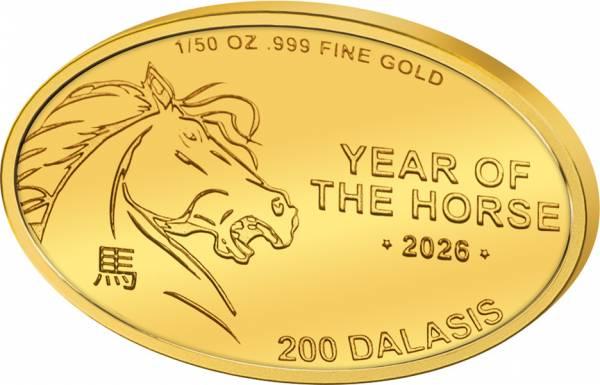 200 Dalasis Gambia Jahr des Pferdes 2017