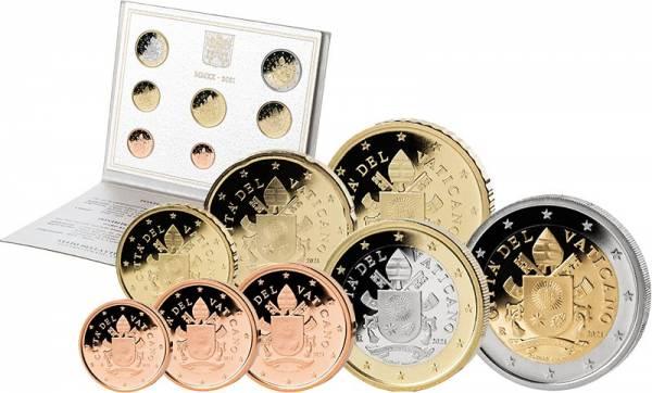 Euro-Kursmünzensatz Vatikan 2021 Ersttags-Edition