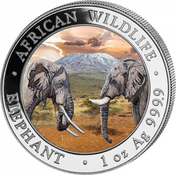2 x 100 Shillings Somalia Day und Night Set Elefant 2020