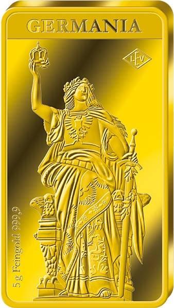 5 Gramm Goldbarren Germania