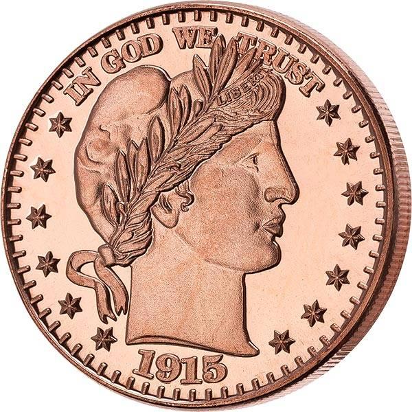1 AVDP-Unze Gedenkprägung Barber Half Dollar
